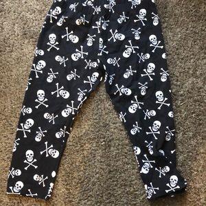 capri skull leggings (L) womens